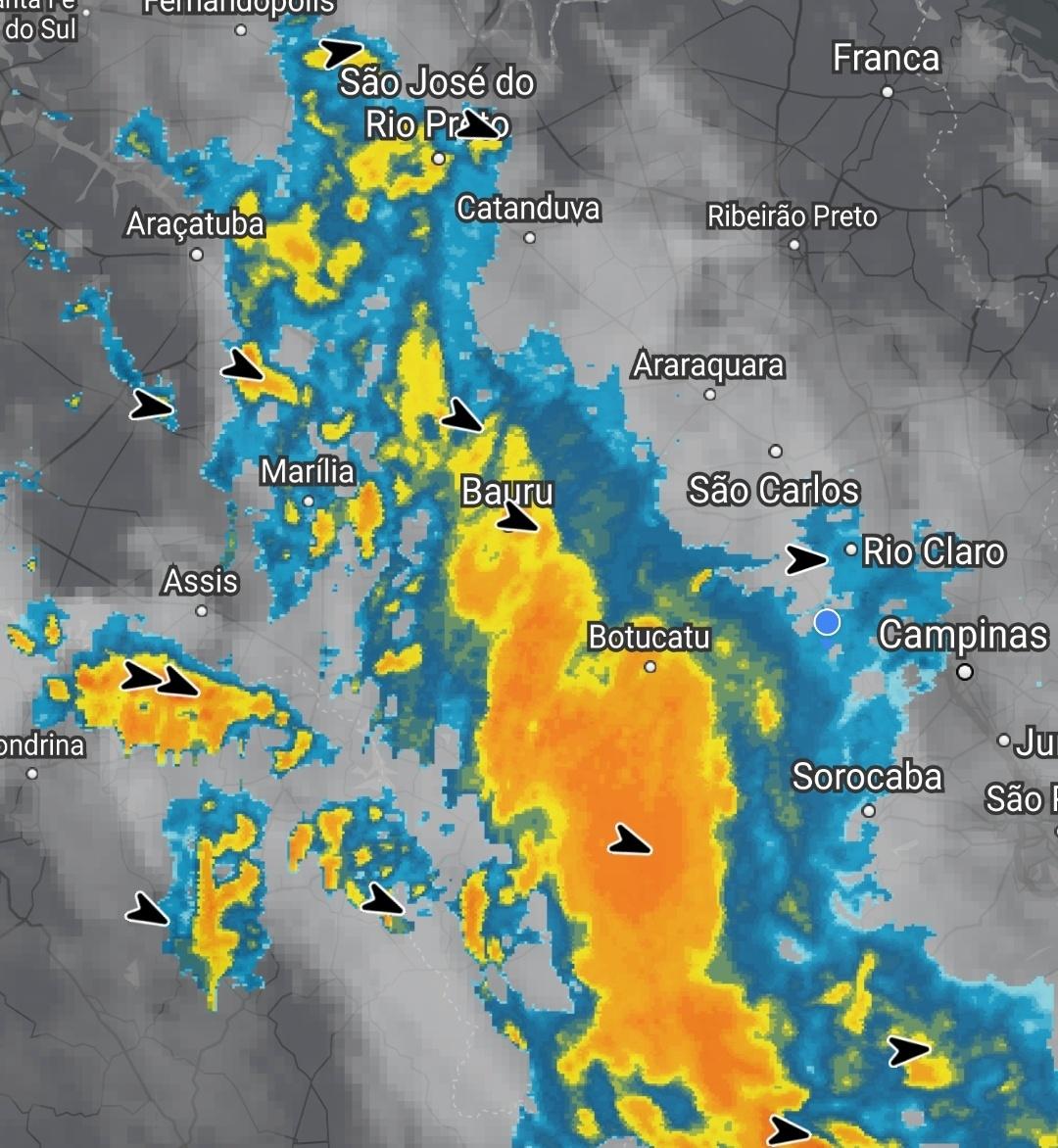 Chuva registrada ontem (14)