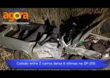Colisão frontal deixa 8 vítimas na rodovia entre Araraquara e Boa Esperança