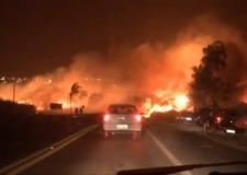 Rincão arde em chamas em noite de desespero para os moradores