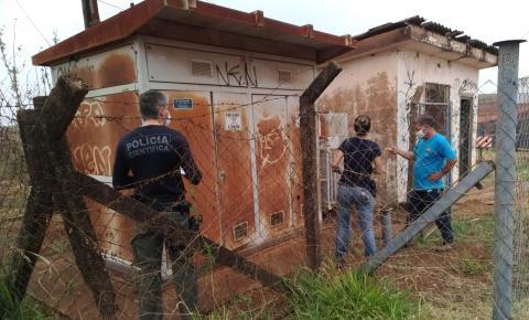 Daema encontra sinais de vandalismo em bomba de água que parou em Américo