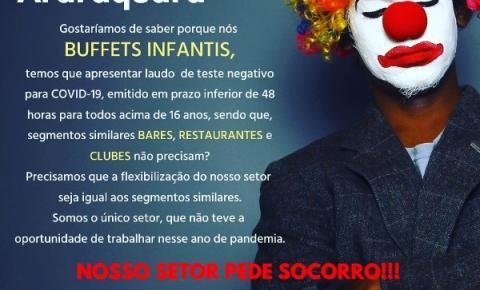 Buffets de Araraquara questionam testagem em massa para eventos e pedem socorro
