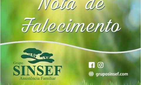 Com pesar, o Grupo Sinsef comunica o falecimento do Sr. José Luiz dos Santos