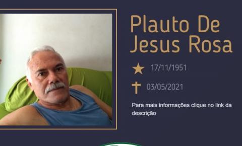 Com pesar, o Grupo Sinsef se despede do Sr. Plauto de Jesus Rosa