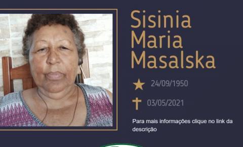 Com pesar, o Grupo Sinsef se despede da Sra. Sisinia Maria Masalska
