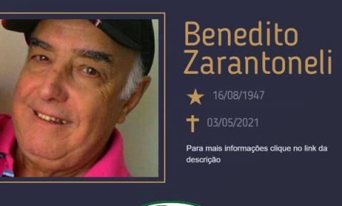 Com pesar, o Grupo Sinsef se despede do Sr. Benedito Zarantoneli