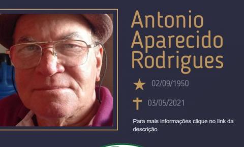 Com pesar, o Grupo Sinsef se despede do Sr. Antonio Aparecido Rodrigues