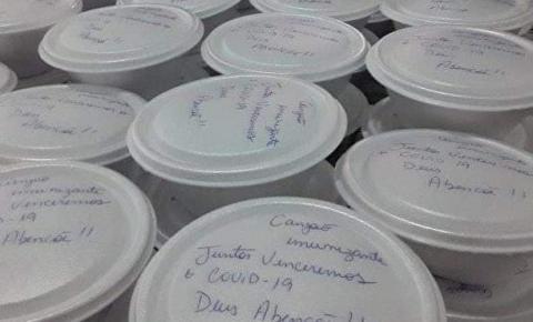 Moradores de Trabiju se unem e entregam mais de 400 marmitas pela cidade