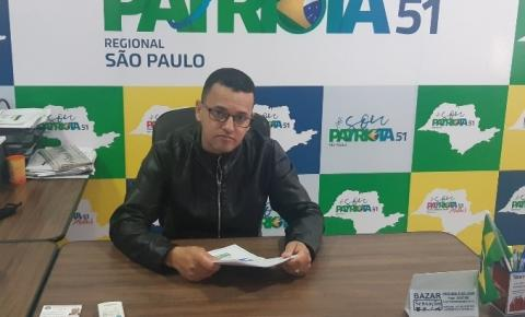Patriota entra com representação, no Ministério Púbico, contra a Prefeitura
