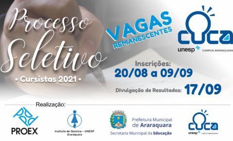Cuca abre vagas para cursinho gratuito em Araraquara