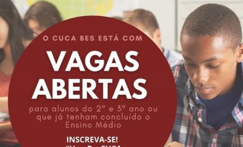 Cuca abre inscrições para cursinho gratuito em Boa Esperança do Sul