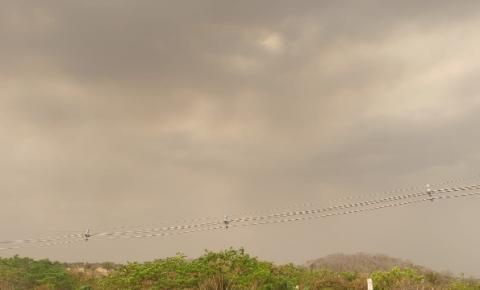 Nuvem escura toma conta do céu em Boa Esperança do Sul