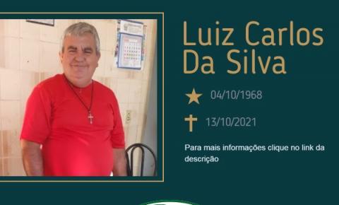 Com pesar, o Grupo Sinsef comunica o falecimento do Sr. Luiz Carlos Da Silva